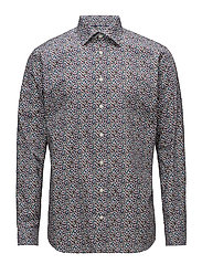 Micro Floral Print Shirt - PINK/RED