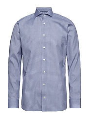 Geometric Print Shirt - BLUE
