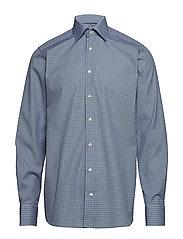 Eton - Geometric Print Shirt - Contemporary fit - chemises business - blue - 0