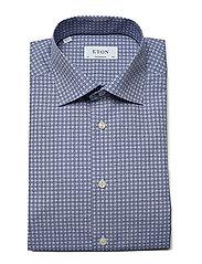 Eton - Geometric Print Shirt - Contemporary fit - chemises business - blue - 3