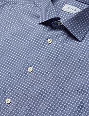 Eton - Geometric Print Shirt - Contemporary fit - chemises business - blue - 4