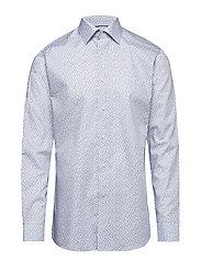 Blue Paisley Print Shirt - BLUE
