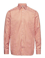 Orange Gingham Check Shirt - YELLOW/ORANGE