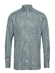 Green Gingham Check Shirt - GREEN