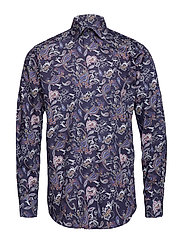 Navy Paisley Print Shirt - BLUE