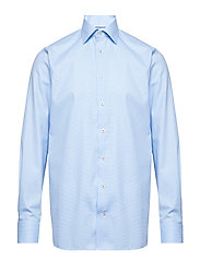 Sky Blue Floral Embroidery Shirt