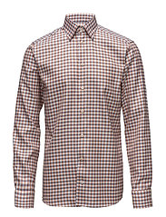 Red & Blue Check Button Under Shirt - PINK/RED