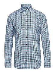 Blue & Green Check Twill Shirt - BLUE