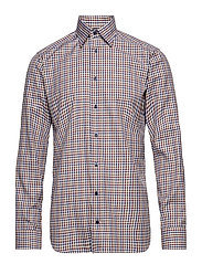Red & Brown Check Twill Shirt - PINK/RED