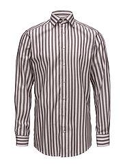 Burgundy Striped Twill Shirt - PINK/RED