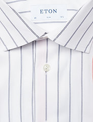 Eton - Striped Cotton-Tencel Shirt - chemises business - white - 2