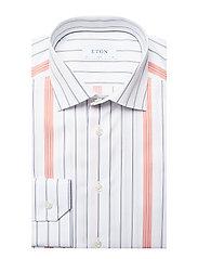 Eton - Striped Cotton-Tencel Shirt - chemises business - white - 3