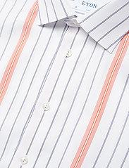 Eton - Striped Cotton-Tencel Shirt - chemises business - white - 4