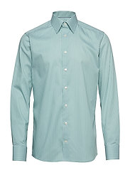 Green Striped Natural Stretch Shirt