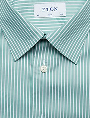 Eton - Striped Natural Stretch Shirt - chemises business - green - 2