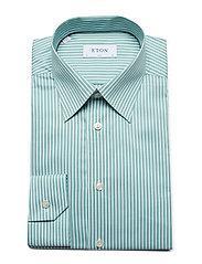 Eton - Striped Natural Stretch Shirt - chemises business - green - 3