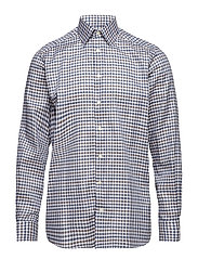 Navy Check Flannel Shirt - BLUE