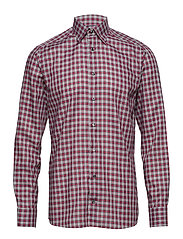 Red Check Flannel Shirt - PINK/RED