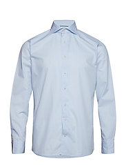 Sky Blue Striped Shirt - BLUE