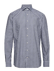 Blue Gingham Check Shirt - BLUE