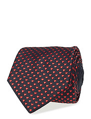 Red Valentine's Woven Silk Tie - PINK/RED