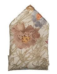 Flower Design Print Pocket Square - OFFWHITE/BROWN