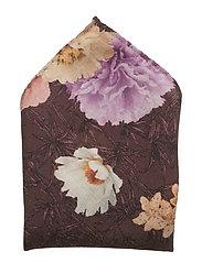 Flower Design Print Pocket Square - PINK/RED
