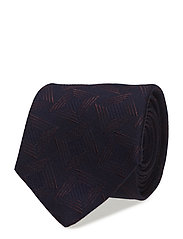 Navy Silk & Wool Tie - BLUE