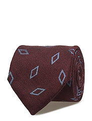 Burgundy Wool & Silk Tie - PINK/RED