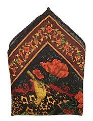 Floral & Bird Print Pocket Square