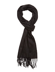 Black Wool Scarf - BLUE