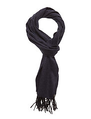 Navy Wool Scarf - BLUE