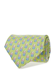 Red Condanas Print Tie - GREEN