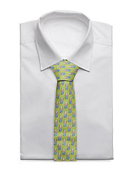 Eton - Red Condanas Print Tie - ties - green - 1