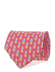Red Condanas Print Tie - PINK/RED