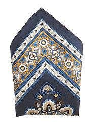 Blue Cotton & Silk Pocket Square