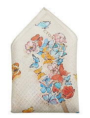 Dolphin-Butterfly Cotton Pocket Square