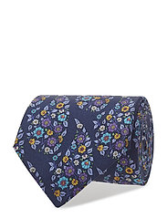Blue Floral Silk Tie - BLUE