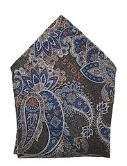Floral Paisley Pocket Square - GREY
