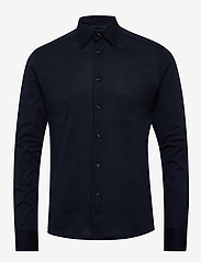 Eton - Polo shirt - long sleeved - basic shirts - blue - 0