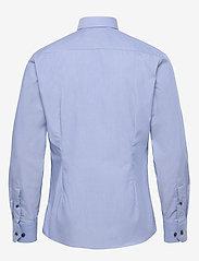 Eton - Blue hairline striped shirt – navy details - peruspaitoja - blue - 1