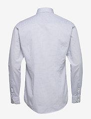 Eton - Navy checked cotton silk shirt – soft - ruutupaidat - navy - 1