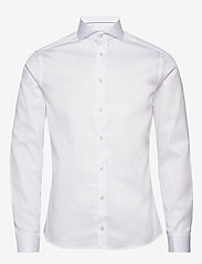 Eton - Royal twill shirt - peruspaitoja - white - 0