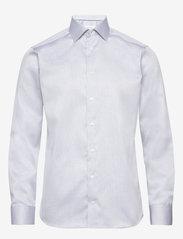 Eton - Diamond weave shirt - peruspaitoja - blue - 0