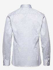 Eton - Diamond weave shirt - peruspaitoja - blue - 1