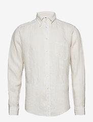 Eton - White luxe linen shirt - peruspaitoja - white - 0