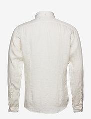 Eton - White luxe linen shirt - peruspaitoja - white - 1