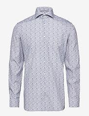 Eton - Paisley Print Shirt - business shirts - blue - 0