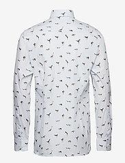 Eton - Striped Animal Print Shirt - business shirts - blue - 1
