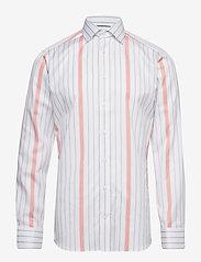 Eton - Striped Cotton-Tencel Shirt - chemises business - white - 0